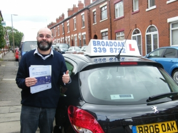 Congratulations to Nigel from Ashton-under-lyne on passing his driving test<br />